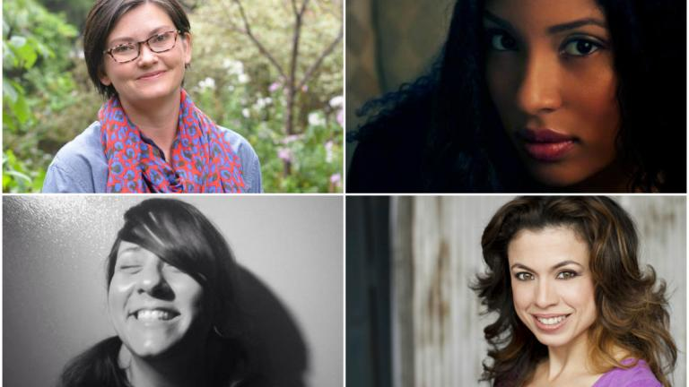 Goodman Theatre's four new resident playwrights.