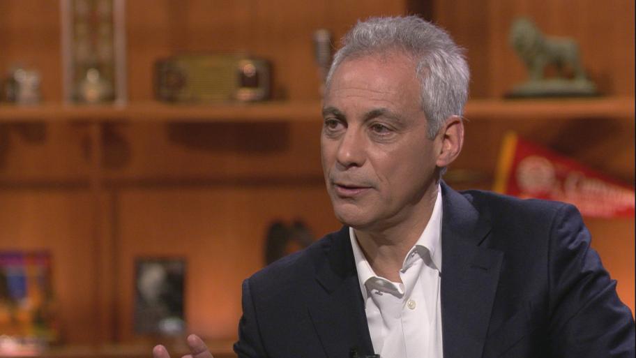 "Mayor Rahm Emanuel appears on ""Chicago Tonight"" on Monday, May 13, 2019."