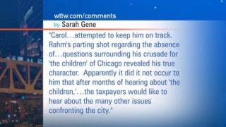 October 11, 2012 - Viewer Mail: 10/11 Mayor Rahm Emanuel