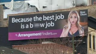February 14, 2013 - Racy Billboard Causes Controversy