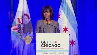 April 10, 2013 - Michelle Obama Visits to Combat Violence