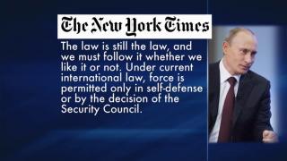 September 12, 2013 - Russian President Makes Plea
