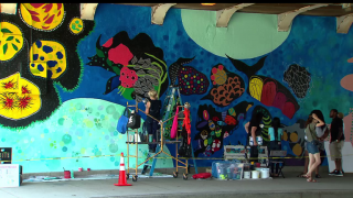 New Mural Brightens Lake Shore Drive Underpass