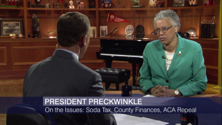 Toni Preckwinkle Discusses Cook County Soda Tax Pushback