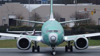In this Dec. 11, 2019, file photo, a Boeing 737 Max airplane being built for Norwegian Air International turns as it taxis for take off for a test flight at Renton Municipal Airport in Renton, Washington. (AP Photo / Ted S. Warren, File)