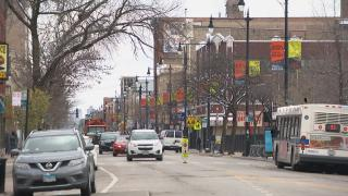 Lawrence Avenue in Albany Park (WTTW News)