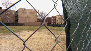 The site of a 50-unit affordable housing development in Albany Park. (WTTW News)