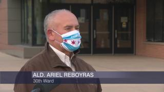 """30th Ward Ald. Ariel Reboyras appears on """"Chicago Tonight"""" on Monday, May 11, 2020. (WTTW News)"""