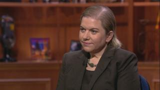 """Dr. Allison Arwady, Chicago Department of Public Health commissioner, appears on """"Chicago Tonight"""" on Tuesday, March 17, 2020."""