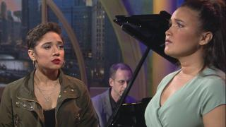 "Amanda Castro, left, and Mikaela Bennett appear on ""Chicago Tonight"" on Wednesday, May 8, 2019."