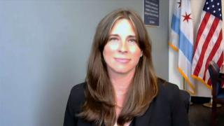 """Andrea Kersten, interim chief of Chicago's Civilian Office of Police Accountability appears on """"Chicago Tonight"""" via Zoom, July 21, 2021. (WTTW News)"""