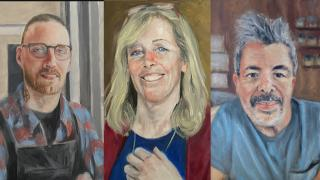 Portraits by Evanston artist Chris Froeter. (WTTW News)