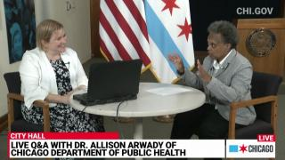 Lightfoot announced the reopening during an online question-and-answer session hosted by Dr. Allison Arwady, the commissioner of the Chicago Department of Public Health, June 3, 2021.