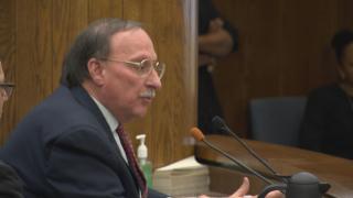 Thomas Jaconetty speaks Thursday at a hearing.