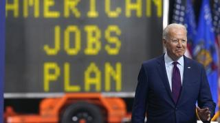 President Joe Biden arrives to speak about infrastructure spending at the La Crosse Municipal Transit Authority, Tuesday, June 29, 2021, in La Crosse, Wis. (AP Photo / Evan Vucci)