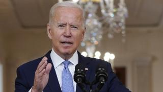 President Joe Biden speaks about the end of the war in Afghanistan from the State Dining Room of the White House, Tuesday, Aug. 31, 2021, in Washington. (AP Photo / Evan Vucci)