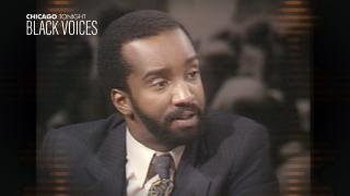 """Bill Campbell appears on """"The Week in Review"""" with Joel Weisman in 1981. (WTTW News)"""