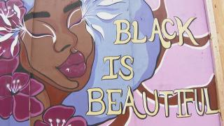 """A mural in Chicago featured in the new book """"Boarded Up Chicago: Storefront Images Days After the George Floyd Riots."""" (WTTW News)"""