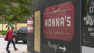 Nonna's pizza and sandwich shop on Randolph Street in Chicago's West Loop. (WTTW News)