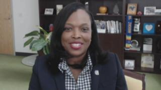 """Chicago Public Schools CEO Janice Jackson appears on """"Chicago Tonight"""" via Zoom on Tuesday, July 21, 2020. (WTTW News)"""