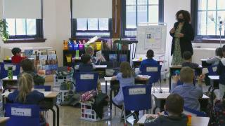 """According to the CPS website's COVID tracker, since the start of school, 350 students of the more than 340,000 who attend CPS have had what the district calls """"actionable"""" — meaning confirmed — COVID cases. (WTTW News)"""