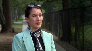 """Cash Fazal, a Chicago-based Afghan American immigration lawyer, speaks with """"Chicago Tonight."""" (WTTW News)"""