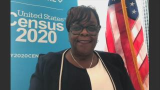 "U.S. Census Bureau Chicago Regional Director Marilyn Sanders appears on ""Chicago Tonight"" via Zoom on Tuesday, Aug. 25, 2020. (WTTW News)"