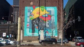 A mural in Chicago's South Loop. (WTTW News)