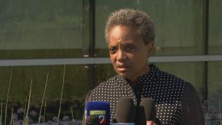 """""""We have to stand up and do a hell of a lot more than we've done in a very long time,"""" Chicago Mayor Lori Lightfoot said Monday, Aug. 5, 2019, following a violent weekend in Chicago and mass shootings that left more than 30 people dead in El Paso, Texas, and Dayton, Ohio."""