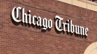 The Chicago Tribune Freedom Center printing facility along the Chicago River. (WTTW News)