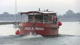 As only one of two former fireboats that offer tours in the U.S., Fred A. Busse is a piece of Chicago history. (WTTW News)