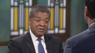 """Chief Judge Timothy Evans appears on """"Chicago Tonight"""" on Aug. 8, 2019."""