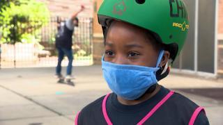 The Chill Foundation's skateboarding program kicked off in November 2020 in Chicago. (WTTW News)