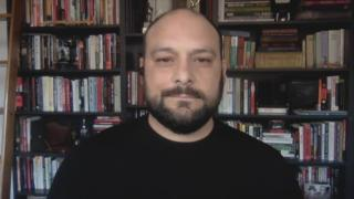 "Christian Picciolini appears on ""Chicago Tonight"" via Zoom on Tuesday, July 7, 2020. (WTTW News)"