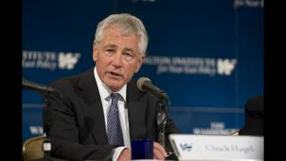 A file photo of former U.S. Secretary of Defense Chuck Hagel (Photo Credit: U.S. Department of Defense)