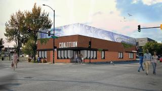 Coalition Food Hall, set to be located near the California Green Line Station in Garfield Park, is one of 11 equitable transit-oriented developments that received a grant this week.  (Credit: Coalition Food Hall)