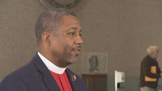 The Rev. Saeed Richardson speaks about police reform at the first of two public hearings on the proposed police consent decree Wednesday, Oct. 24, 2018.