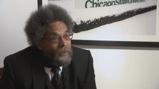 "Cornel West in discussion with ""Chicago Tonight"" on Oct. 18, 2018."