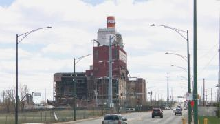 The partly demolished site of the former Crawford Power Generating Station, which was active from 1925 to 2012. (WTTW News)