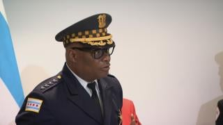 Mayor Lori Lightfoot and Chicago Police Superintendent David Brown announced the city's strategy to prevent violence ahead of Memorial Day weekend, May 28, 2021 (WTTW News)