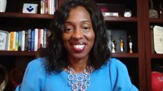 "Dr. Ngozi Ezike appears via Zoom on ""Chicago Tonight"" on Wednesday, Sept. 29, 2021. (WTTW News)"