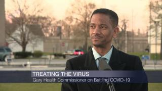 """Dr. Roland Walker appears on """"Chicago Tonight"""" on Thursday, April 30, 2020. (WTTW News)"""