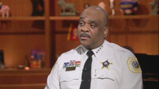 "Chicago Police Superintendent Eddie Johnson appears on ""Chicago Tonight"" on Aug. 9, 2018."