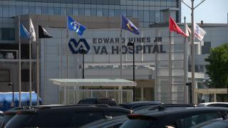 The Edward Hines Jr. Veterans Administration Hospital. (WTTW News)