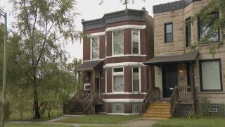 The former home of Emmett Till and his mother, Mamie Till-Mobley, at 6427 S. St. Lawrence Ave. in Chicago's Woodlawn community. (WTTW News)
