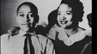 Emmett Till and his mother, Mamie Till-Mobley.