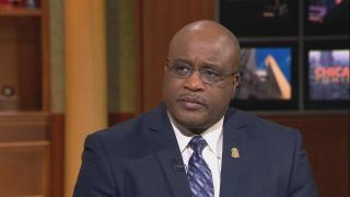 "FBI Special Agent in Charge Emmerson Buie Jr. appears on ""Chicago Tonight."" (WTTW News)"
