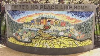 A tile mosaic honoring L. Frank Baum created by Chicago artist Hector Duarte. (WTTW News)