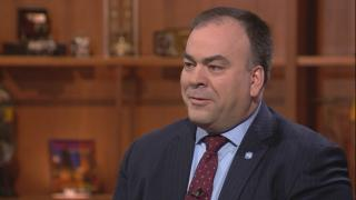 "Fritz Kaegi appears on ""Chicago Tonight"" on March 12, 2019."
