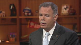 """Garry McCarthy appears on """"Chicago Tonight"""" on Feb. 20, 2018."""